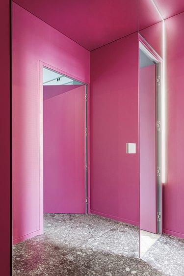 hallway pink