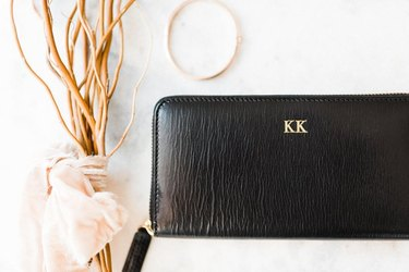 the leather monogram wallet