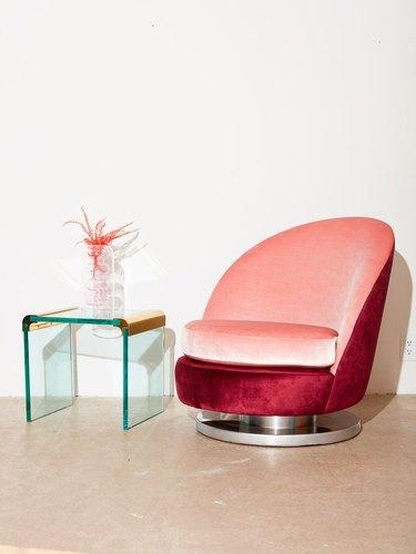 coming soon velvet chair