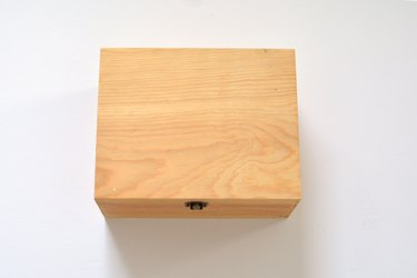 Untreated wooden box