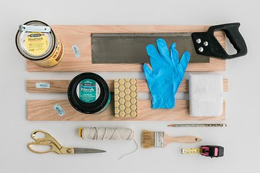 Here's what you'll need to make your DIY sofa arm tabletop.