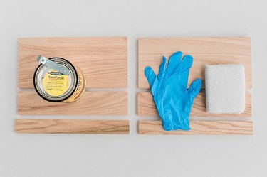 Stain the wood boards.