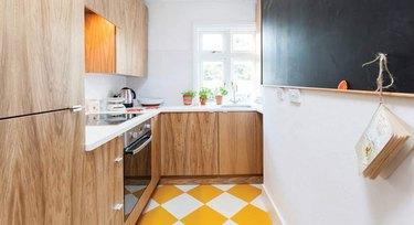 Yellow Checkerboard Kitchen Floor  from Harvey Maria
