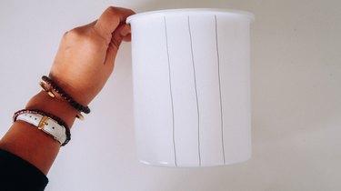Vertical lines on jar