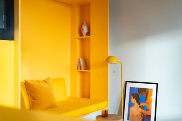 yellow reading nook