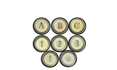 drawer pulls made of typewriter keys