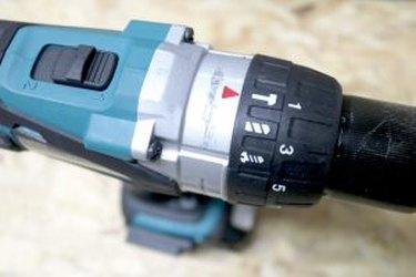 Cordless drill power settings.