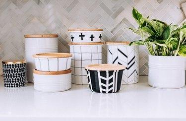 Completed Scandinavian inspired jars