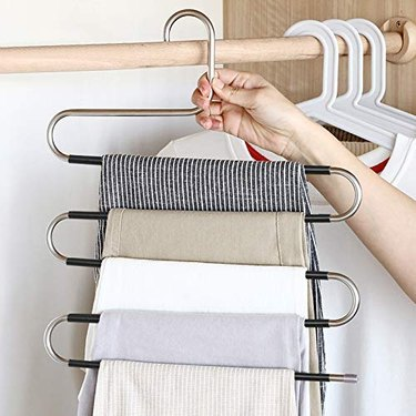non-slip pants hanger for small closets
