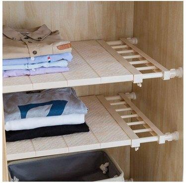 adjustable tension shelf