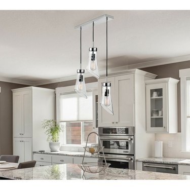 glass pendant kitchen island lighting
