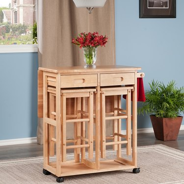 modular kitchen island table with stools