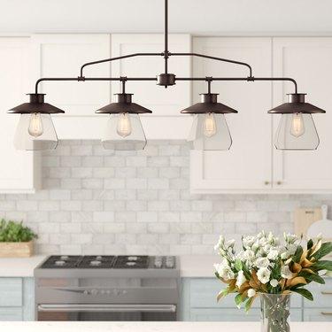 farmhouse kitchen island pendant lighting ideas