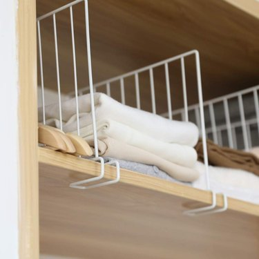 slide on shelf divider for closet