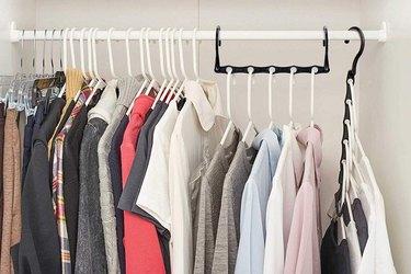 cascading hanger for small closet