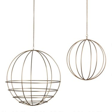 Gold Wire Sphere Plant Hanger (Large), $17.99