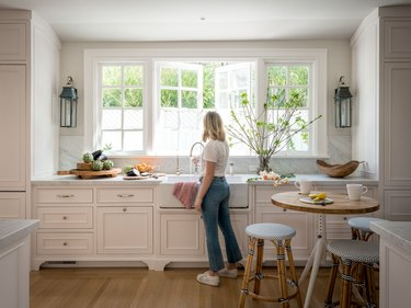 light wood kitchen floors in farmhouse space by Alison Pickart