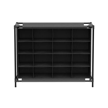 gray cubby storage rack