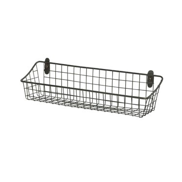 gray wall mount basket