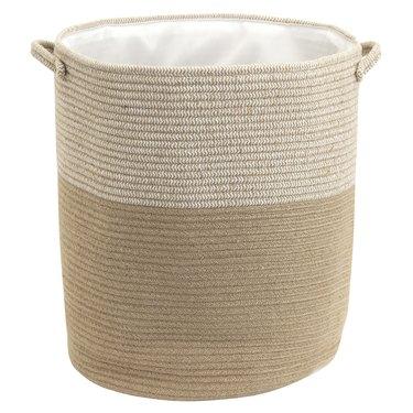 two-tone rope hamper