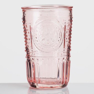 pink depression glass tumbler from World Market