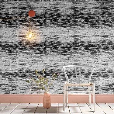 monochrome dot Scandinavian wallpaper