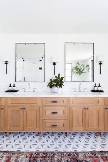 His and hers sinks in the master bath