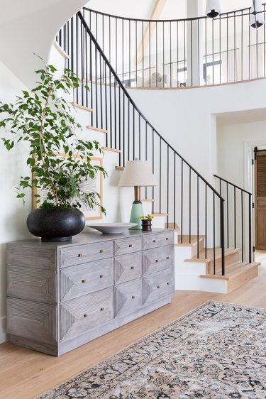 The dramatic light-filled entryway