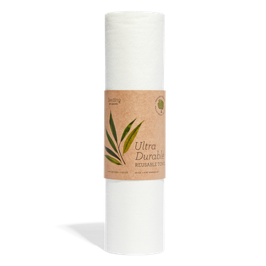 white reusable paper towel roll