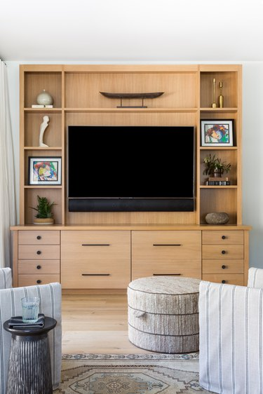 A thoughtfully styled media center
