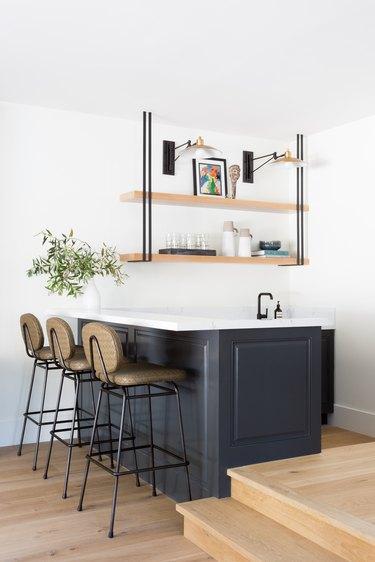 A custom bar area