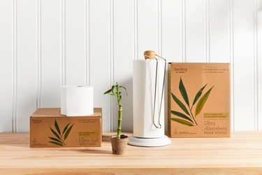 Seedling by Grove Collaborative tree-free sustainable collection on light wood counter
