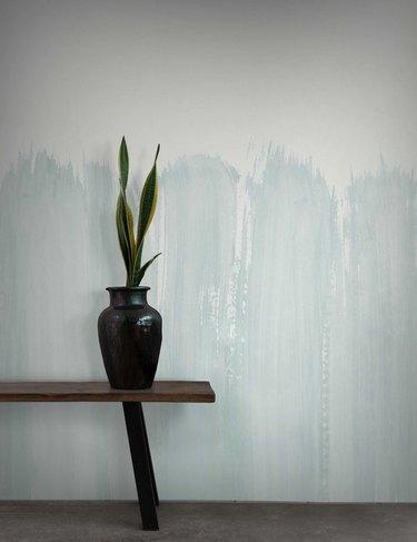 abstract blue streak Scandinavian wallpaper