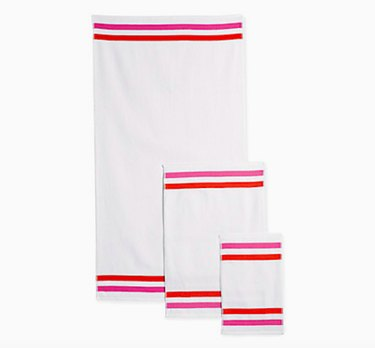 Candy Stripe Bath Towel, $20