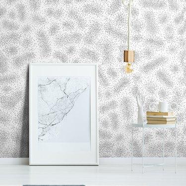 minimalist black and white Scandinavian wallpaper