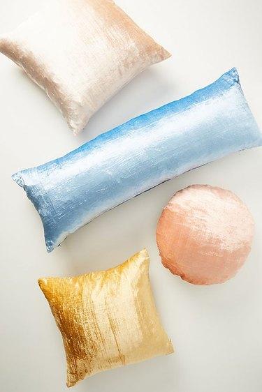 pastel velvet pillows