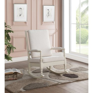 Taylor & Olive White Wood Rocking Chair, $469.99
