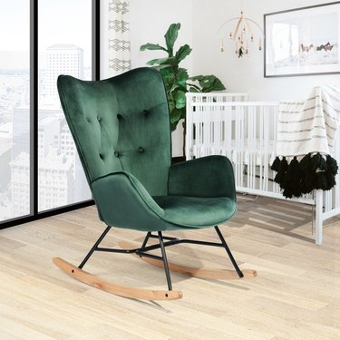 Carson Carrington Velvet Rocking Chair, $167.26