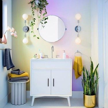 midcentury bathroom vanity