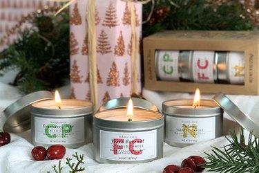 three winter candles