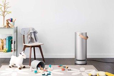 Molekule air filter in a playroom