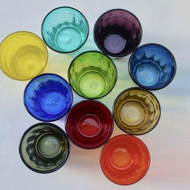 Colorful Italian glasses