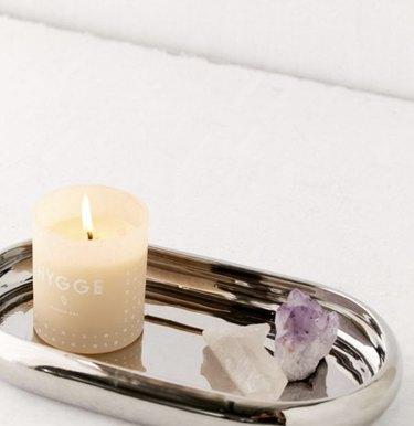 Silver vanity tray