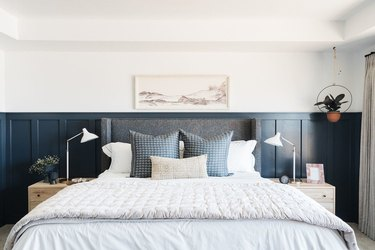 Craftsman Bedroom by Studio McGee with wainscoting