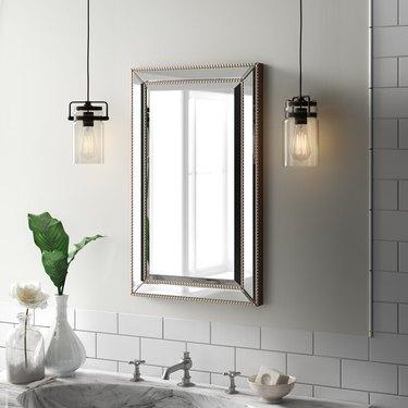 embellished bathroom medicine cabinet