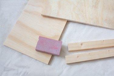 Sanding wood boards