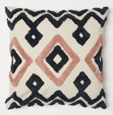 embroidered canvas cushion cover under $25