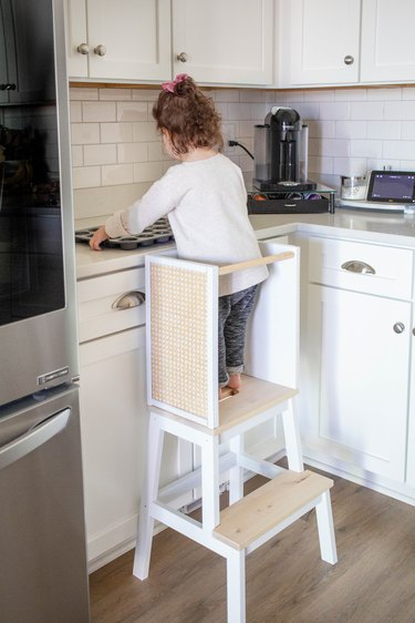 IKEA stool hack toddler learning tower