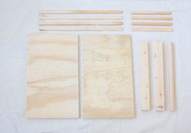 Wood boards cut to size