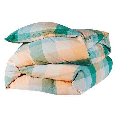 Sage x Clare Check Quilt Cover, $209